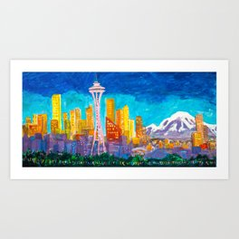Expression Seattle Art Print