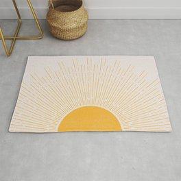 Sun Rise Art, Horizontal boho Sun Rug