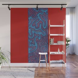 Stitches - Coral Wall Mural