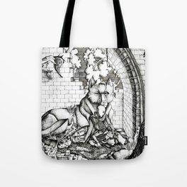 Lovers in the ruins Tote Bag