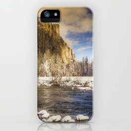 Yosemite Winter Valley View iPhone Case
