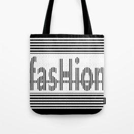 Fashion B and W Tote Bag