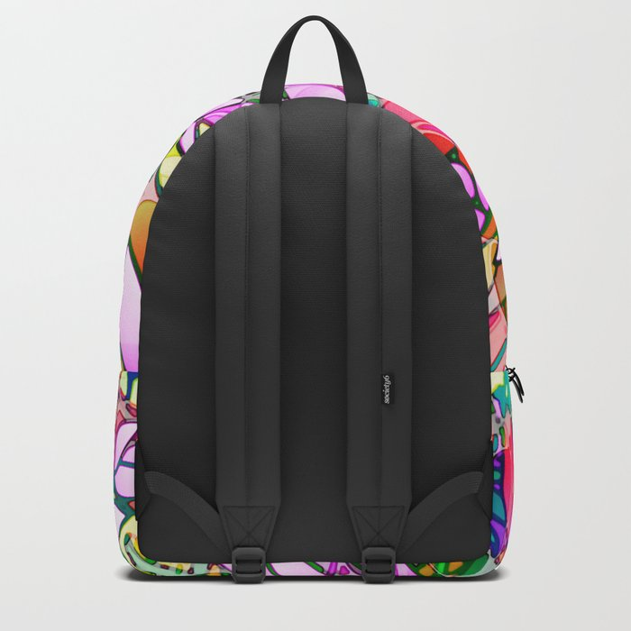 Grunge Art Floral Abstract G130 Backpack