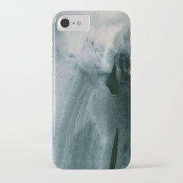 greyish brush strokes iPhone Case