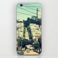 san francisco iPhone & iPod Skins featuring San Francisco by Mr and Mrs Quirynen