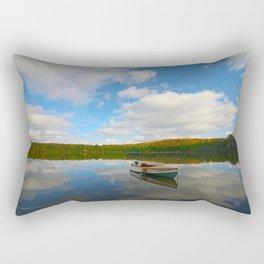 A 1949 Thompson afloat at Mirror Lake Rectangular Pillow
