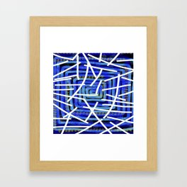 Jazz Trumpet Blue  Framed Art Print