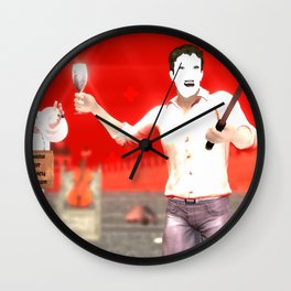 SquaRed: Face Off Wall Clock