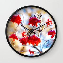 Arrowwood Berries Wall Clock