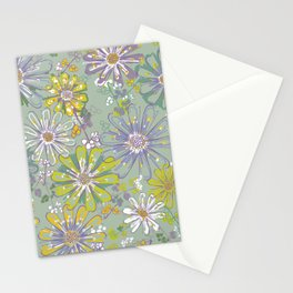 Spring meadow pattern Stationery Cards
