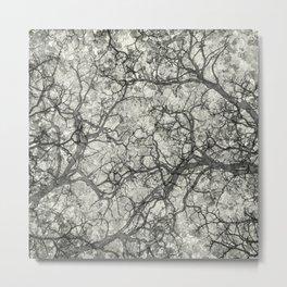 Ivory White Hunting Camo Pattern Metal Print