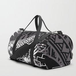 Slate Polynesian Tribal Threads Grunge Duffle Bag