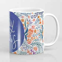 Stay Curious – Navy & Coral Coffee Mug