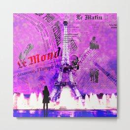 Paris News Metal Print