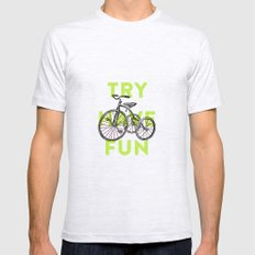 Try have fun Ash Grey SMALL Mens Fitted Tee