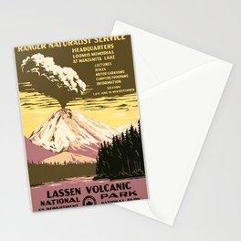 Vintage poster - Lassen Volcanic National Park Stationery Cards