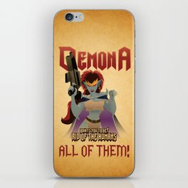 Demona Propganda iPhone Skin