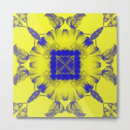 Psychedelic Neon Bloom Metal Print