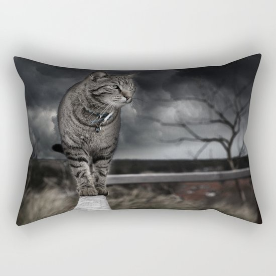 Eerie Cat Rectangular Pillow