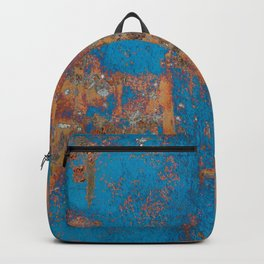 Rust on blue background Backpack