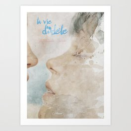 La vie d'Adele, movie poster - chapter two - alternative playbill Kunstdrucke
