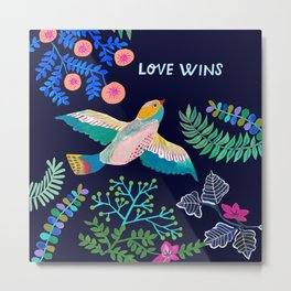LOVE WINS Metal Print