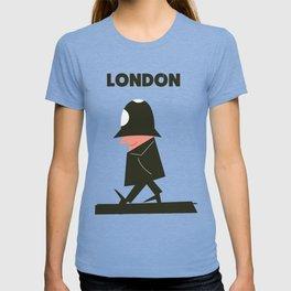 london policeman vintage train travel poster T-shirt