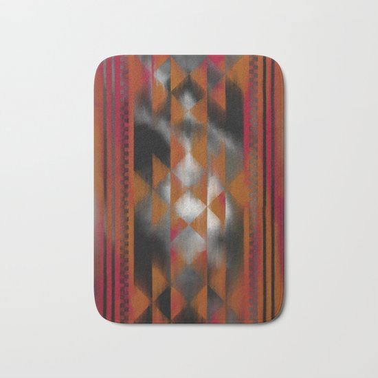 Boho Magic (red) Bath Mat