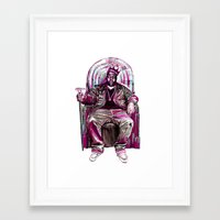 notorious big Framed Art Prints featuring Notorious Big *King* by Gold Blood