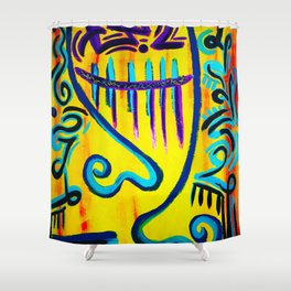 Couple on Yellow Shower Curtain