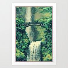Multnomah Waterfall Art Print