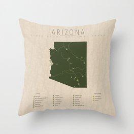 Arizona Parks Throw Pillow