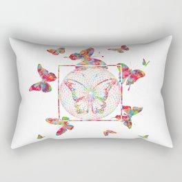 Butterfly Wood decor Rectangular Pillow