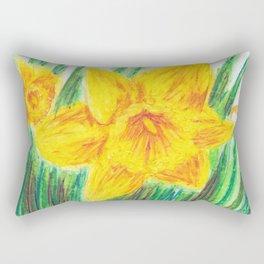 Delightful Daffodils Rectangular Pillow