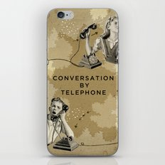 Conversation by Telephone iPhone & iPod Skin