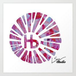 Hermosa Beach Rambla Sunburst Art Print