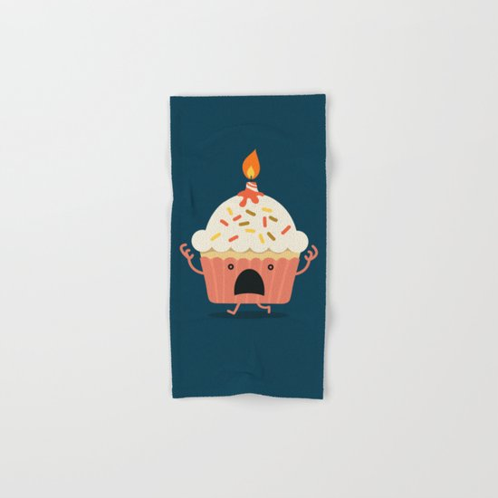 Cupcake on fire Hand & Bath Towel