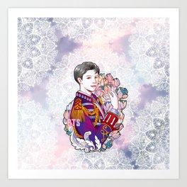 BTS RM, King Namjoon, Kings of KPOP, Love Yourself, Boy With Luv Art Print