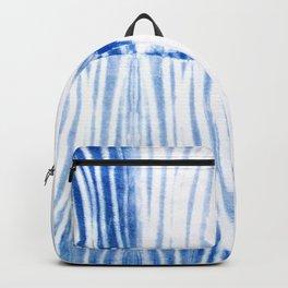 Shibori Blue - Lines Backpack