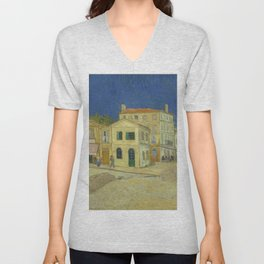The Yellow House by Vincent van Gogh Unisex V-Neck