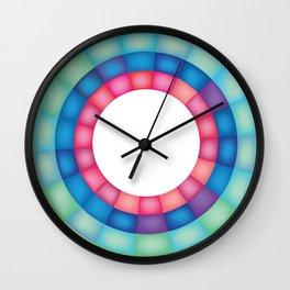 Grid Study - Close Up Wall Clock