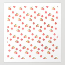 Grapefruit Pattern Art Print