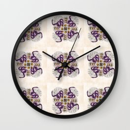 Deadly Daisy Quilt Pattern Wall Clock