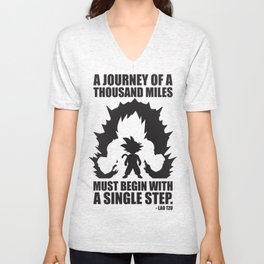 A Journey Of A Thousand Miles (Goku) Unisex V-Neck