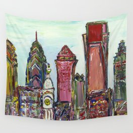 Philadelphia Skyline Wall Tapestry