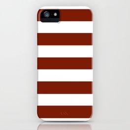 Kenyan copper - solid color - white stripes pattern iPhone Case