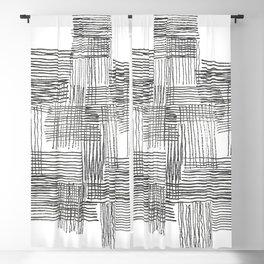Parallel and perpendicular pencil lines Blackout Curtain