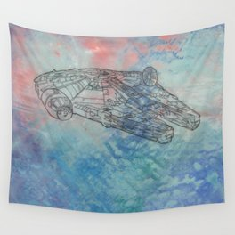 Millennium Falcon Sunset Sky Wall Tapestry