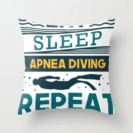 Eat Sleep Freediving Gifts For Apnea Freedivers Throw Pillow