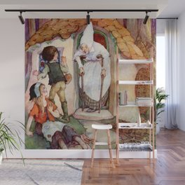 """""""Hansel and Gretel"""" by Anne Anderson Wall Mural"""